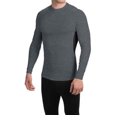 Layer 8 Stretch Base Layer Top - Long Sleeve (For Men) in Dark Charcoal Heather/Rich Black - Closeouts