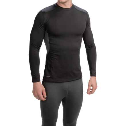 Layer 8 Stretch Base Layer Top - Long Sleeve (For Men) in Rich Black/Dark Charcoal Heather - Closeouts