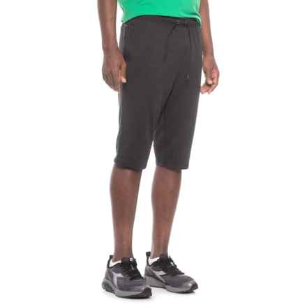"""Layer 8 Stretch Knit Training Shorts - 13"""" (For Men) in Black Carbon Heather - Closeouts"""