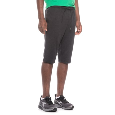 "Layer 8 Stretch Knit Training Shorts - 13"" (For Men) in Black Carbon Heather"