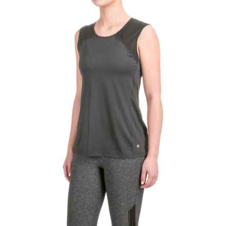 Layer 8 Stretch T-Shirt - Sleeveless (For Women) in Ebony-Rich Black Combo/Charcoal Grey Heather - Closeouts