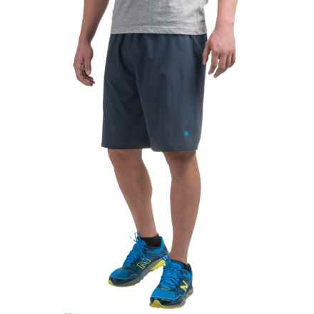 Layer 8 Stretch Woven Shorts (For Men) in Dark Navy/Blue Thrill - Closeouts