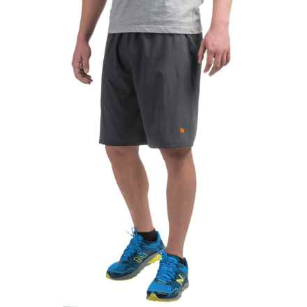 Layer 8 Stretch Woven Shorts (For Men) in Greystone/Spark - Closeouts