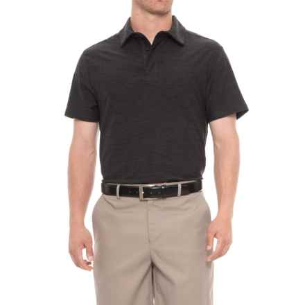 Layer 8 Sueded Stretch Heather Polo Shirt - Short Sleeve (For Men) in Black Heather - Closeouts