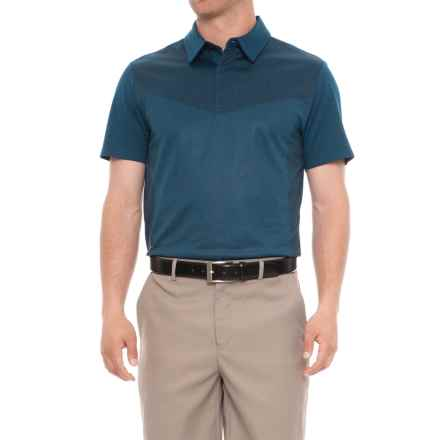 Layer 8 Sueded Stretch Heather Polo Shirt - Short Sleeve (For Men) in Blue Heron Heather - Closeouts