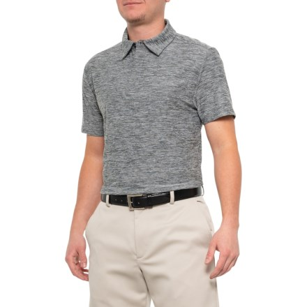 b9277ae9d71b89 Layer 8 Sueded Stretch Heather Polo Shirt - Short Sleeve (For Men) in Grey
