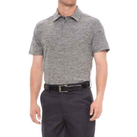 Layer 8 Sueded Stretch Heather Polo Shirt - Short Sleeve (For Men) in Grey Pinstripe Heather - Closeouts
