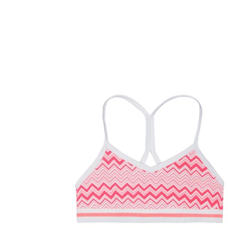 Layer 8 T-Back Sports Bras - 2-Pack (For Big Girls) in Pink Chevron