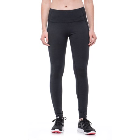 Layer 8 Textured Honeycomb Leggings (For Women) in Rich Black Stripe