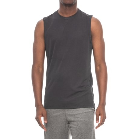 Layer 8 Textured Muscle Shirt - Sleeveless (For Men) in Black