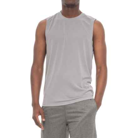 Layer 8 Textured Muscle Shirt - Sleeveless (For Men) in Sharkskin - Closeouts