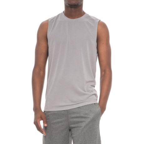 Layer 8 Textured Muscle Shirt - Sleeveless (For Men) in Sharkskin