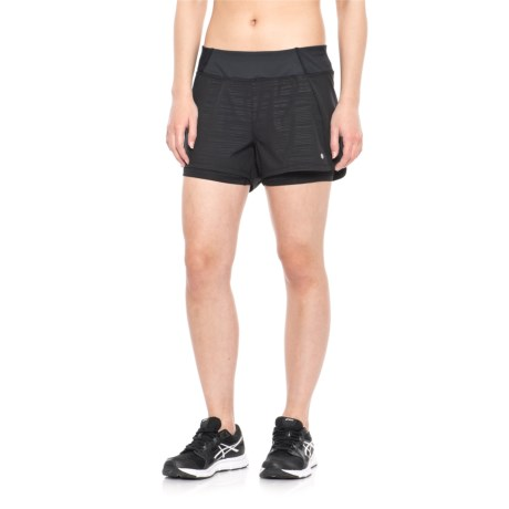 Layer 8 Woven Printed Shorts (For Women) in Rich Black