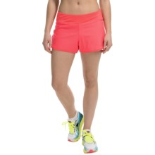 Layer 8 Woven Shorts (For Women) in New Coral/New Coral Heather/Ebony - Closeouts