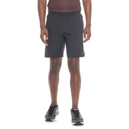 """Layer 8 Woven Stretch Shorts - 9"""" (For Men) in Black - Closeouts"""