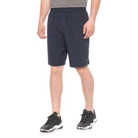 """Layer 8 Woven Stretch Shorts - 9"""" (For Men) in Dark Navy - Closeouts"""