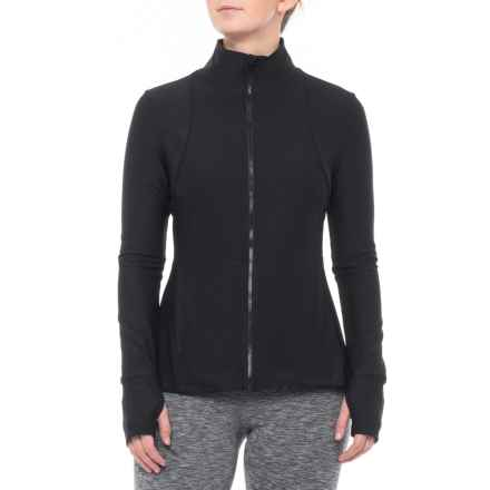 Layer 8 Yoga Jacket (For Women) in Rich Black - Closeouts