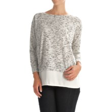 Layered Look Shirt - Long Sleeve (For Women) in Ivory - 2nds