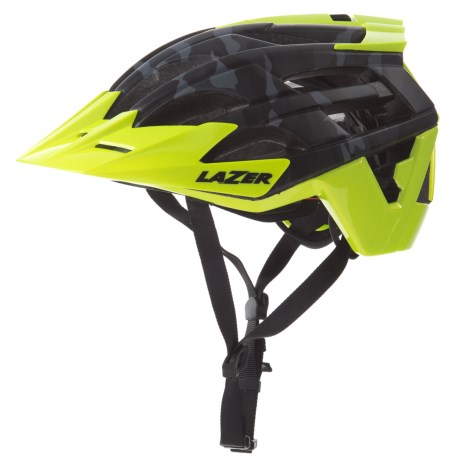 Lazer Sports Oasiz Bike Helmet (For Men) in Matte Black Camo Flash Yellow