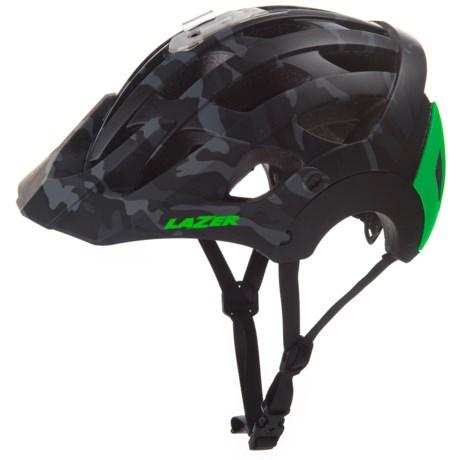 Lazer Sports Revolution Bike Helmet (For Men) in Matte Black Camo Flash Green