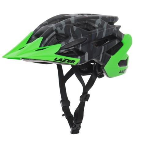 Lazer Sports Ultrax+ MTB Helmet (For Men) in Matte Black Camo Flash Green