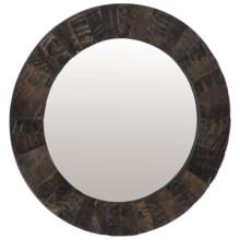 Lazy Susan Buffalo Horn Mirror in Buffalo Horn - Closeouts