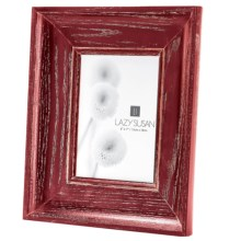 "Lazy Susan Cerused Oak Picture Frame - 5x7"" in Red - Closeouts"
