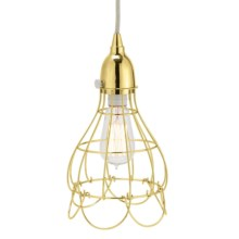 Lazy Susan Gold Wire Rose Pendant Light in Gold - Closeouts