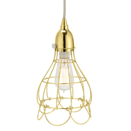 Lazy Susan Gold Wire Rose Pendant Light