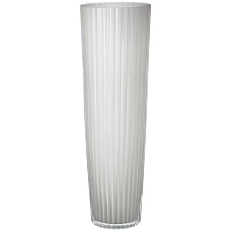 Lazy Susan Jasmine Fluted Vase in White