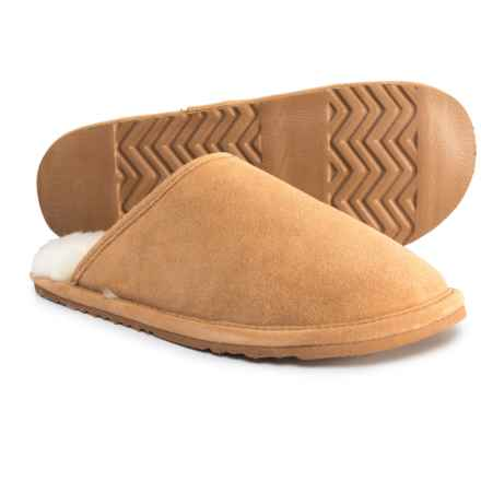 L.B. Evans Hideaways Finn Scuff Slippers - Suede (For Men) in Natural - Closeouts
