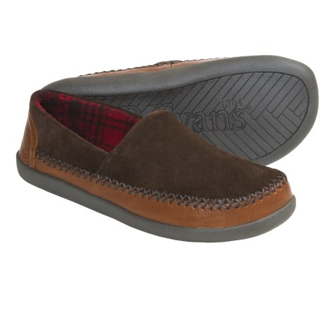 L.B. Evans Holden Suede Slippers (For Men) in Chocolate
