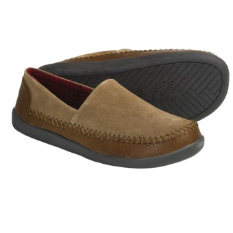 L.B. Evans Holden Suede Slippers (For Men) in Hashbrown