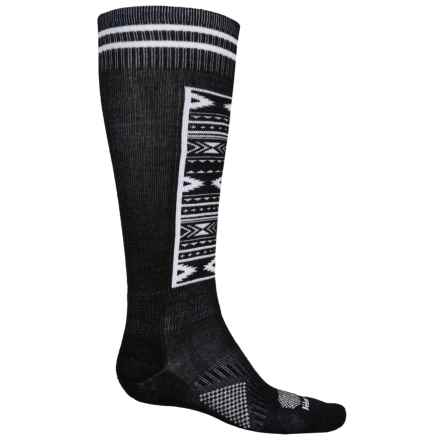 Le Bent Definitive Snowboard Socks - Over the Calf (For Men and Women) in Black/White - Closeouts