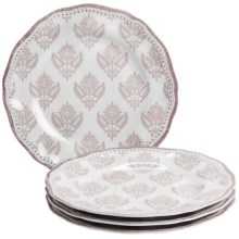"Le Cadeaux Cambria 11"" Dinner Plates - Set of 4 in White - Closeouts"