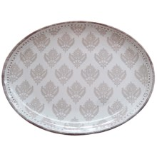 "Le Cadeaux Cambria 16"" Oval Platter in White - Closeouts"