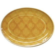 "Le Cadeaux Cambria 16"" Oval Platter in Yellow - Closeouts"