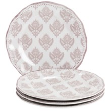 "Le Cadeaux Cambria 9"" Salad Plates - Set of 4 in White - Closeouts"