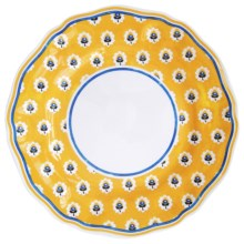 Le Cadeaux Fleur de Provence Dinner Plate - Set of 4, Melamine in Yellow - Closeouts