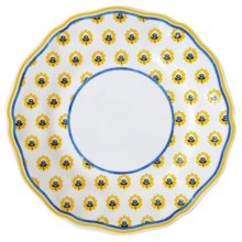 Le Cadeaux Fleur de Provence Salad Plates - Set of 4, Melamine in Yellow - Closeouts