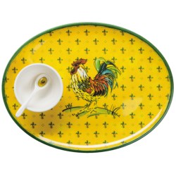 Le Cadeaux Gallina Oval Chip and Dip Set - 3-Piece in Gallina