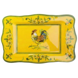 Le Cadeaux Gallina Rectangular Serving Platter in Gallina