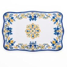 "Le Cadeaux Seville Rectangular Serving Platter - 17.5"" in White - Overstock"