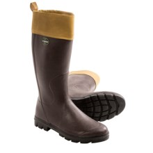 Le Chameau Anjou Rubber Boots - Tin Cloth (For Men) in Brown - Closeouts