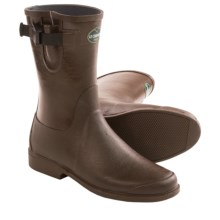 Le Chameau Cavaliere Low Rubber Boots (For Women) in Chocolate - Closeouts