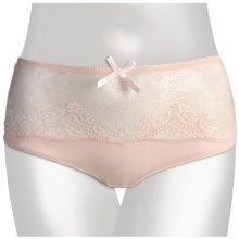Le Mystere Dream Luxe Underwear - High-Rise Briefs (For Women) in Crystal Pink - Closeouts