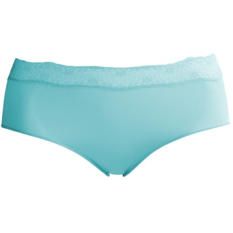 Le Mystere Perfect Pair Underwear - High Waist Brief Panties (For Women) in Seaglass