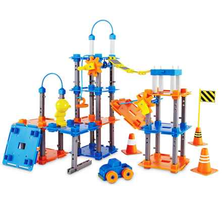 Learning Resources City Engineering & Design Building Set in Blue/Orange - Closeouts