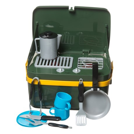 Learning Resources Grill-and-Go Camp Stove Set in Olive