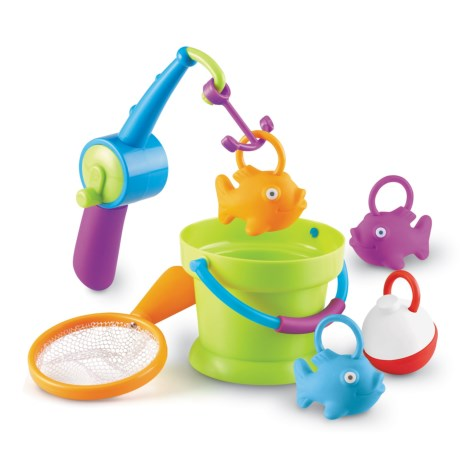 Learning Resources New Sprouts® Reel It! Fishing Toy Set - 7-Piece in Lime Green/Aqua/Purple